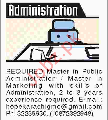 Marketing Manager, Sales Manager & Administrator Jobs