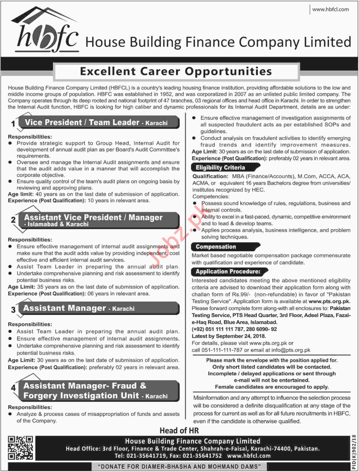 House Building Finance Company Limited Vice President Jobs