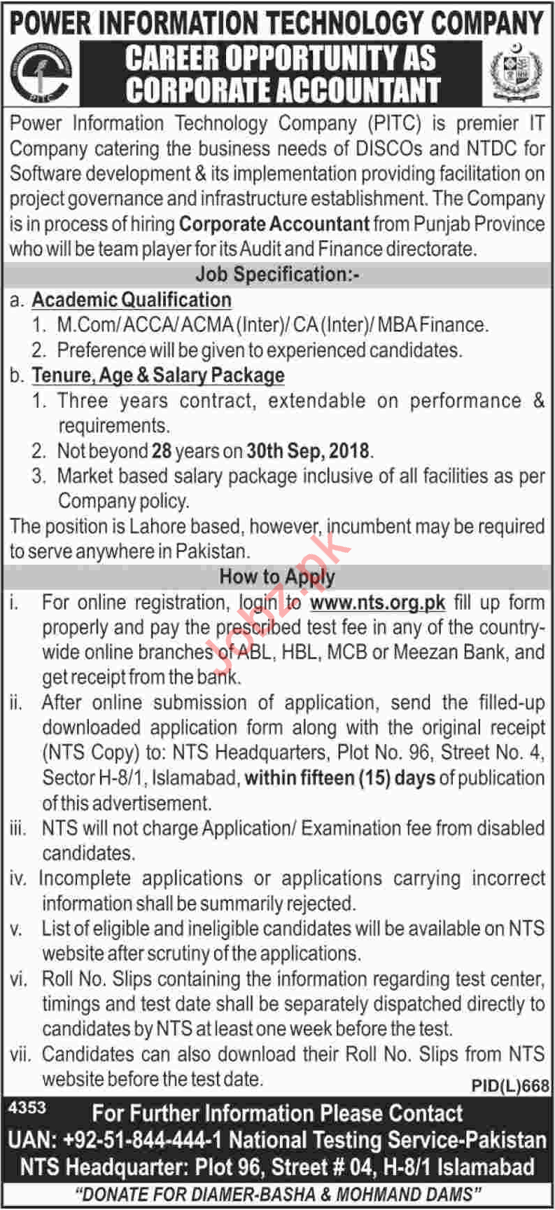 PITC Corporate Accountant Job Opportunities
