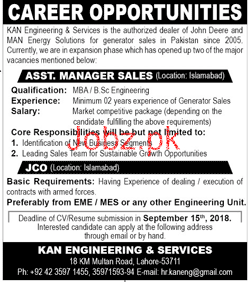 Assistant Manager Sales job in KAN Engineering and Services