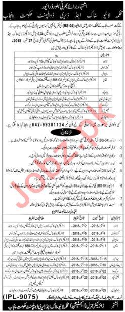Livestock Punjab Jobs 2018 for Drivers 2019 Job