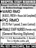 Medical Jobs in Baqai Institute of Diabetology