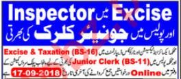 Excise & Taxation Department Clerk Jobs by PPSC