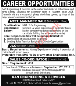 Assistant Manager Sales Jobs in Kan Engineering & Services