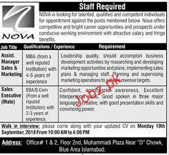 Assistant Manager Sales Job in NOVA