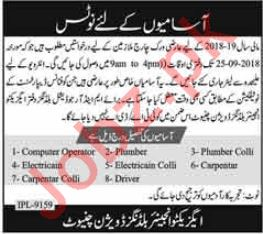 Executive Engineer Buildings Divisions Chiniot Jobs 2018