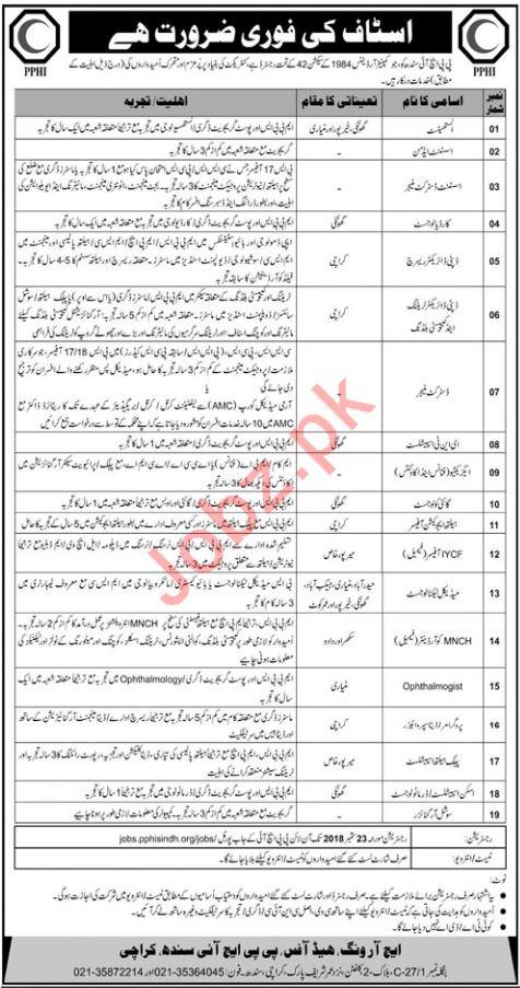 PPHI Sindh Anesthetist Job Opportunities