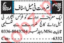 Female Teachers Jobs 2018 For School & College in Quetta