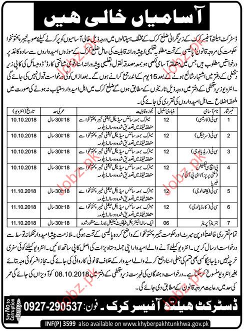 Clinical Technical Pharmacy Jobs in District Health Office