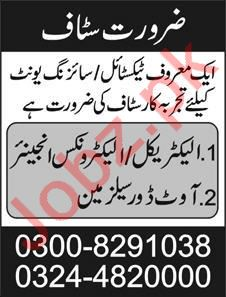 Textile Unit Electrical Engineer Jobs