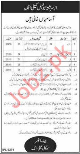 Municipal Committee MC Attock Jobs for Drivers & Watchman