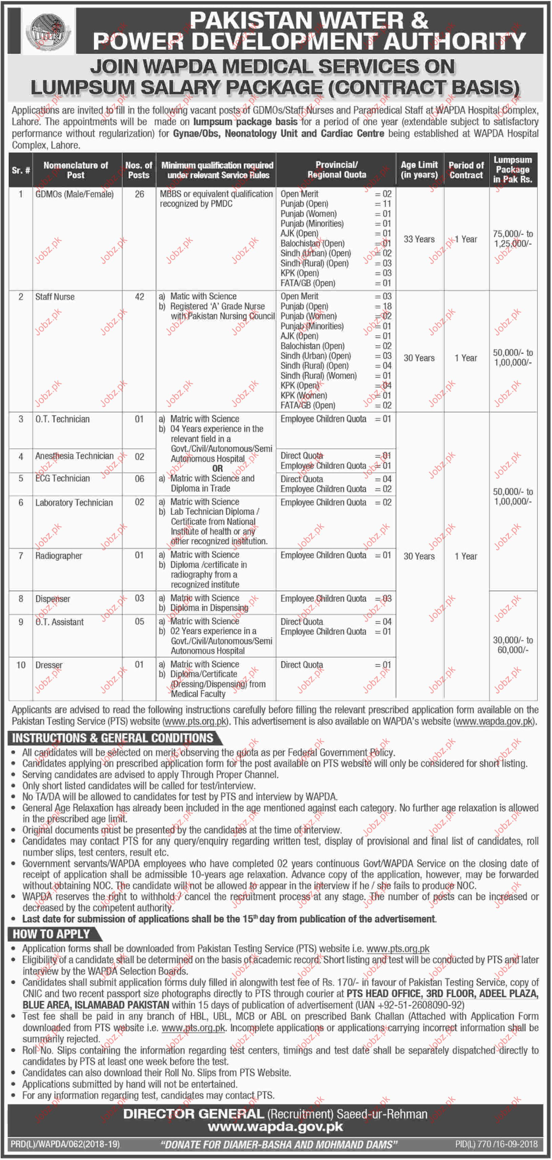 Staff Nurse Jobs in WAPDA