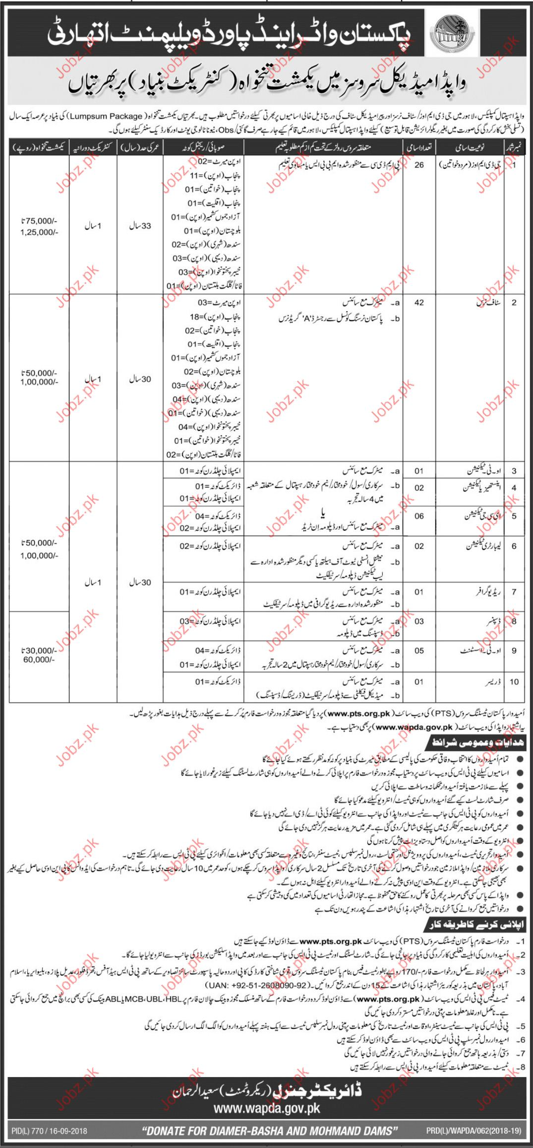 Pakistan Water and Power Development Authority Medical Jobs