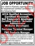 Accountant and Net Frame Developer Required