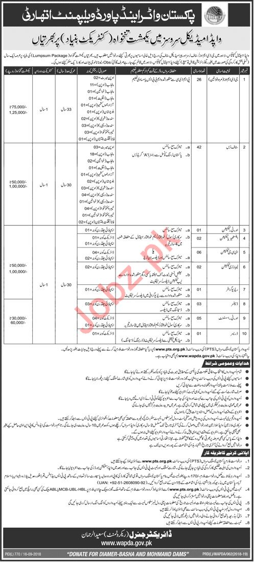 WAPDA Hospital Complex Medical Careers in Lahore