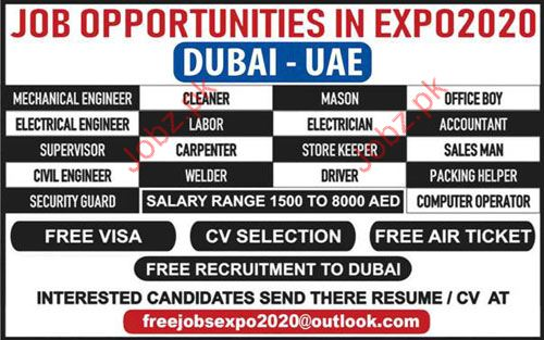Mechanical Engineer Jobs in UAE 2019 Job Advertisement Pakistan