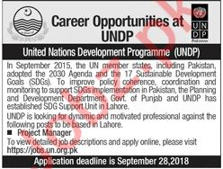 Project Manager UNDP Jobs in Pakistan