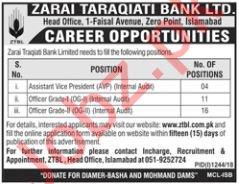 Zarai Tarakiati Bank Limited Assistant Vice President Jobs