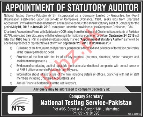 Statutory Auditor for NTS