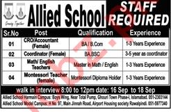 Allied Schools Accountant Jobs