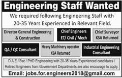 Engineering Staff Jobs 2018 in Islamabad