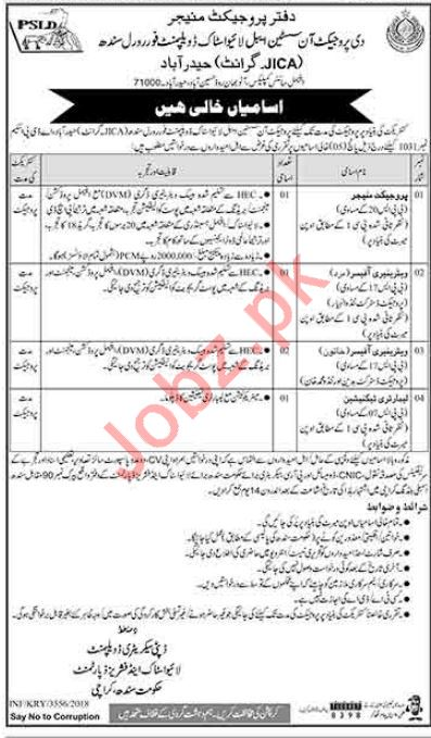 Livestock & Fisheries Department Karachi Jobs 2018
