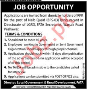 Local Government & Rural Development Peshawar Jobs 2018