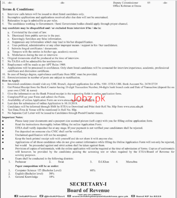 Board of Revenue & Estate Department Jobs