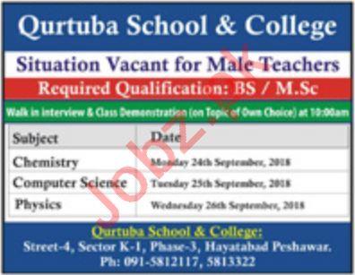 Qurtaba School and College Teacher Careers