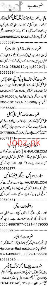 Accountant, Receptionists, Clerk, Supervisor Wanted