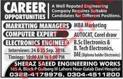 Sheraz Saeed Engineering Works Marketing Manager Jobs