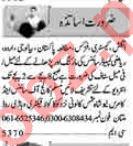 Teacher Jobs Career Opportunity in Multan
