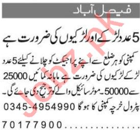 Sales & Marketing Staff Jobs 2018 in Islamabad