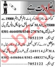 Daily Jang Newspaper Classified Ads September 2018