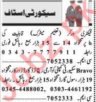 Security Guards Jobs 2018 in Lahore 2019 Job Advertisement Pakistan