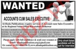 Accounts Cum Sales Executive Jobs 2018 in Peshawar KPK