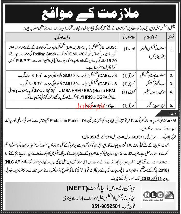 National Logistics Cell NLC  Assistant Manager Jobs