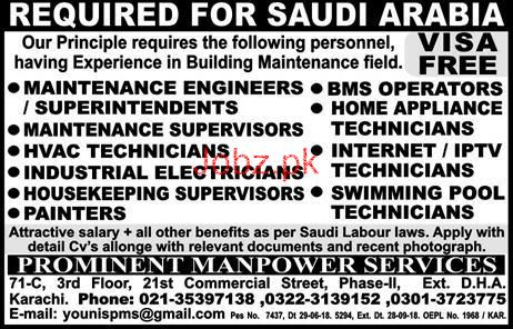 HVAC Technicians, Industrial Electricians Job Opportunity