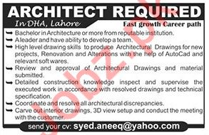 Architect Job 2018 For Lahore