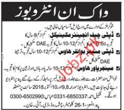 Engineer Mechanical & Manager Boiler House Jobs 2018