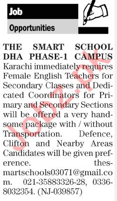 The Smart School Karachi Jobs 2018 for Teachers 2019 Job