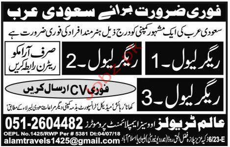 Rigger Jobs in Saudi Arabia