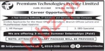 Premium Technologies Pvt Ltd IT Jobs