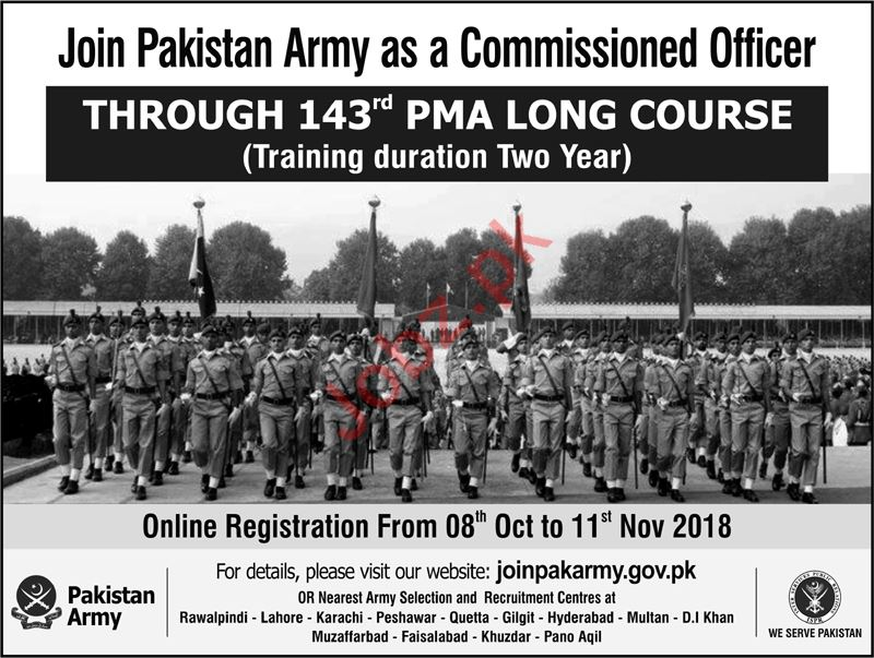 Join Pakistan Army as Commissioned Officer