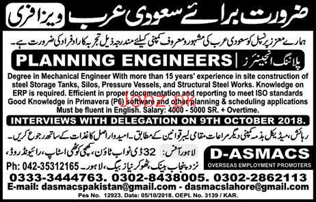 Planning Engineers Job Opportunity