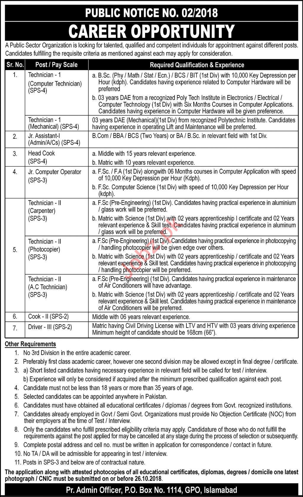 Pakistan Atomic Energy Commission PAEC Jobs 2018 2019 Job