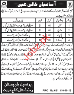 Chowkidar Jobs in Balochistan Residential College