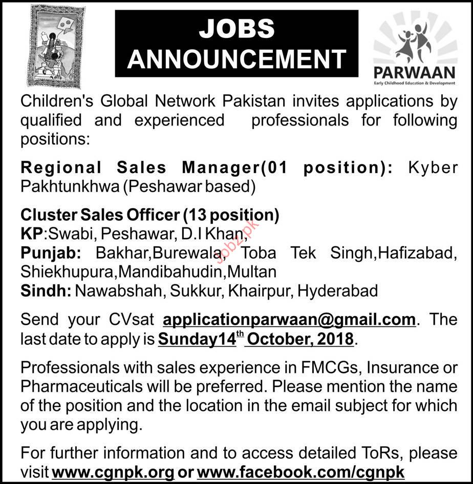 Childrens Global Network Regional Sales Manager Jobs 2018