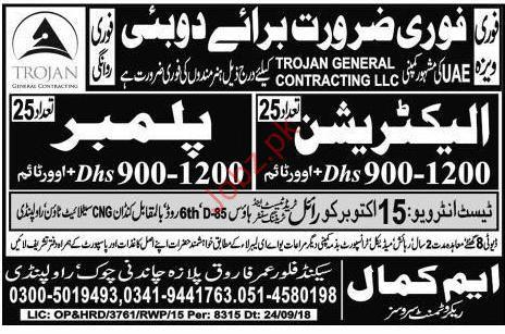 Electrician Jobs in Dubai 2019 Job Advertisement Pakistan