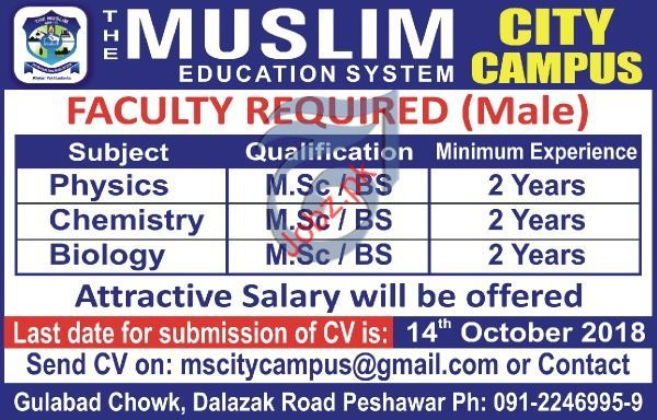 Teaching Jobs in TheMuslim Education System